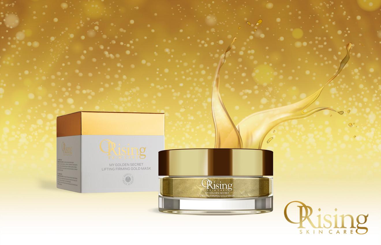 skincare golden mask